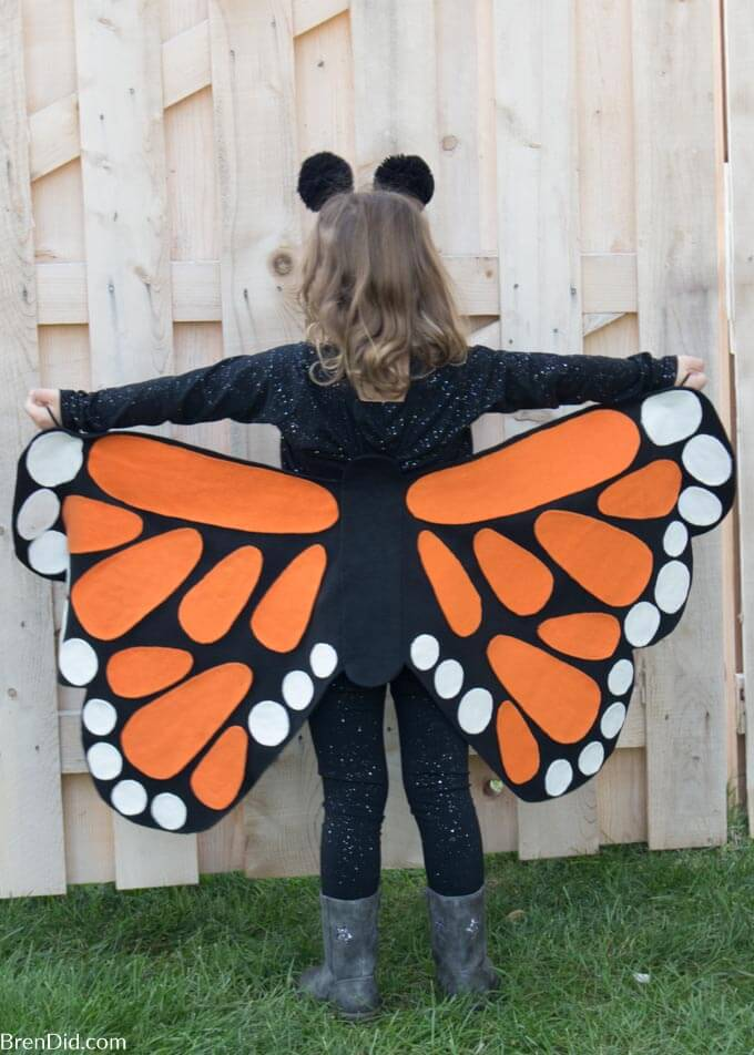 butterfly costume rear view