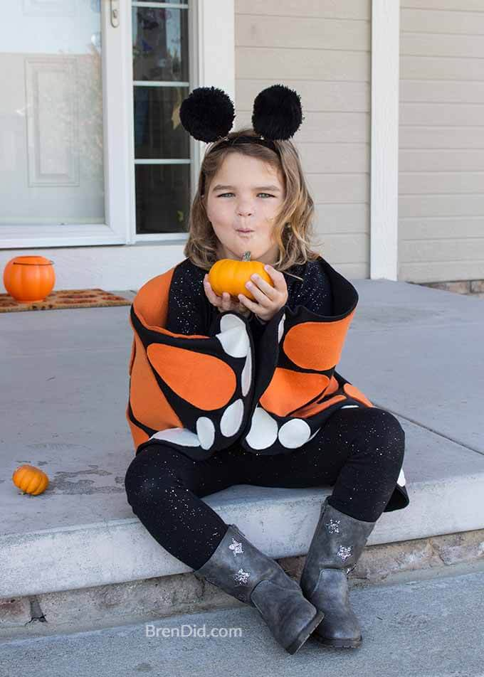 butterfly costume on child