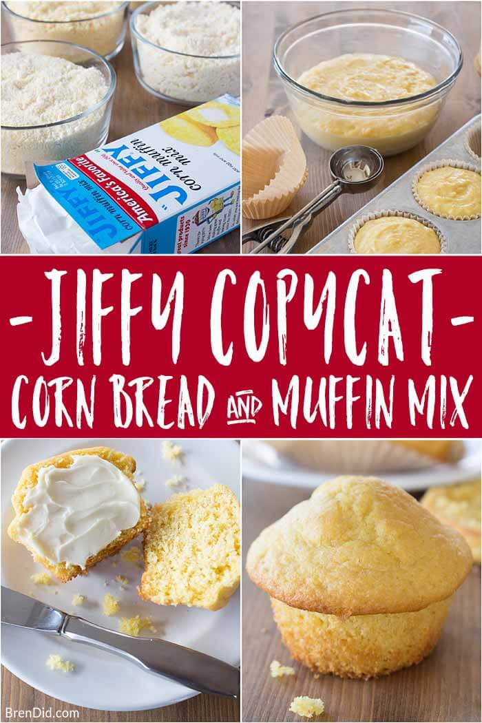 Make Jiffy cornbread mix (or gluten-free corn muffin mix) at home with this easy copycat recipe. Plus 9 variation of the classic Jiffy corn casserole recipe! #corn #corncasserole #jiffy #cornbread #cornmuffin #brendid