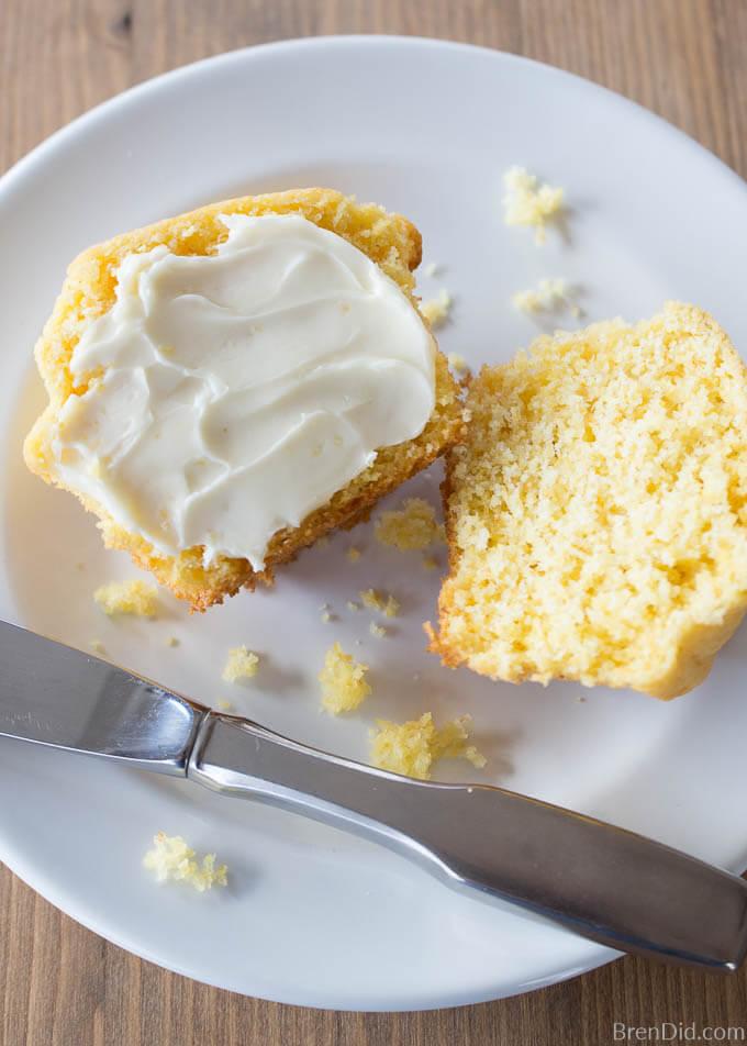 buttered Corn muffin
