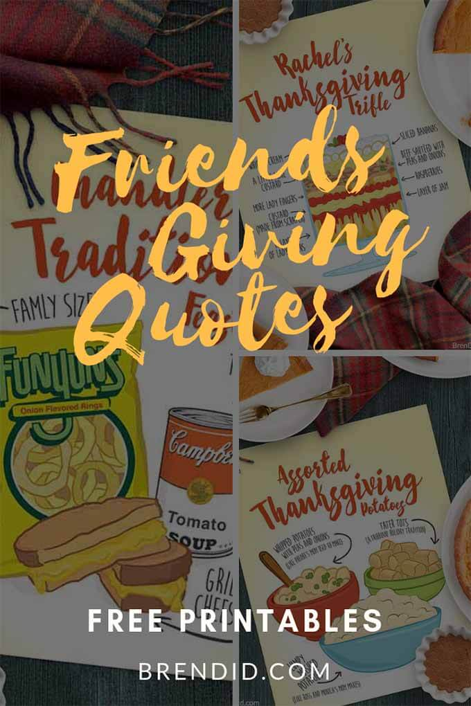 Thanksgiving Friends episodes pin