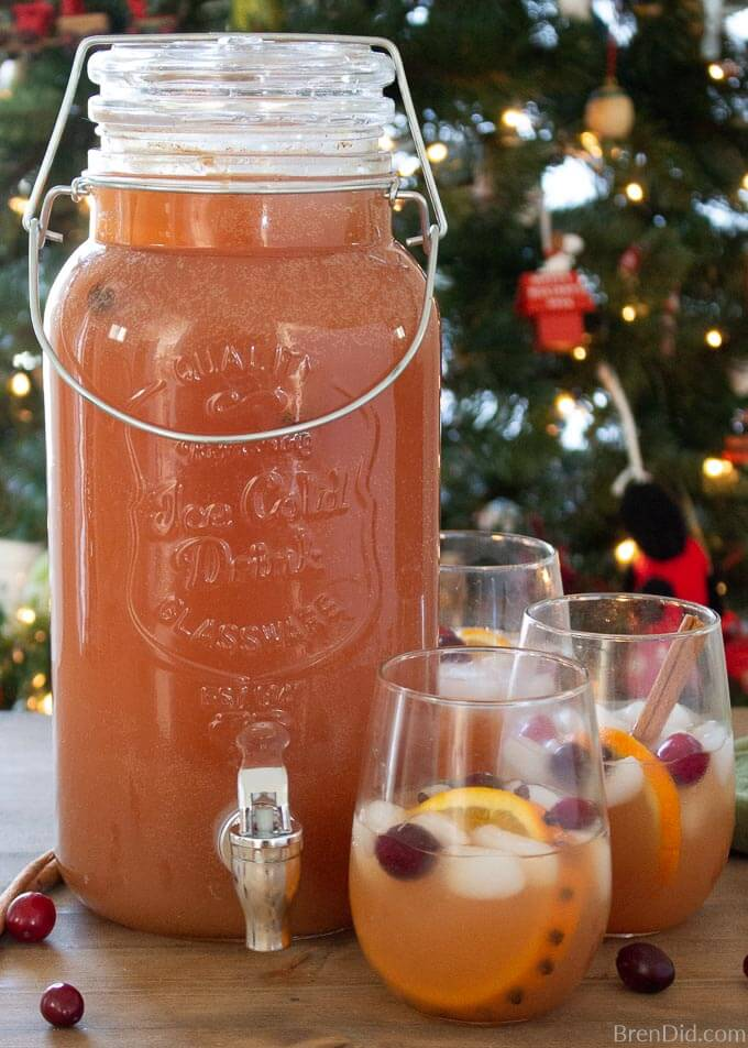Christmas punch in dispenser