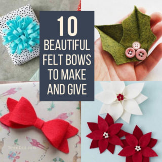 felt bows square collage