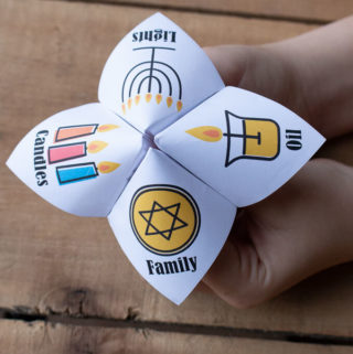 Hanukkah joke tellers for kids