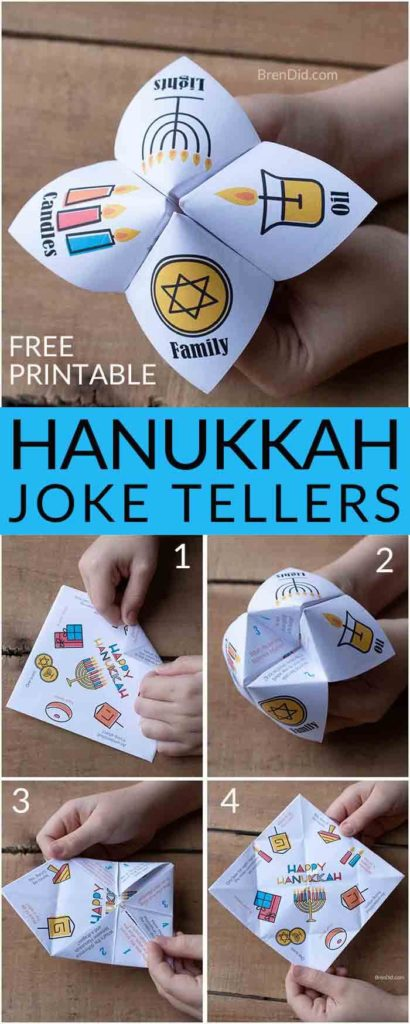 Hanukkah gift collage