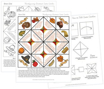 Thanksgiving Gratitude printable pages in black and white and color
