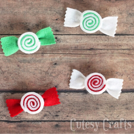 peppermint candy shaped bows