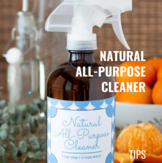 All purpose cleaner image with label