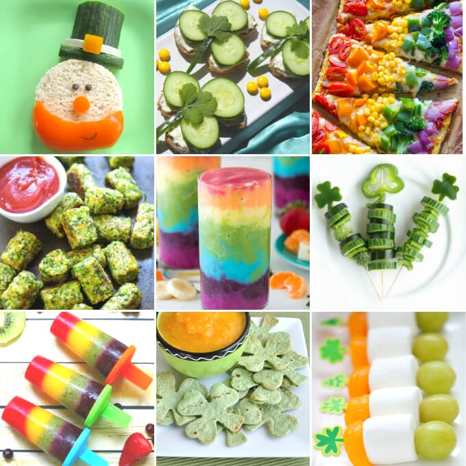 Healthy St Patrick's Day Treats For Kids collage
