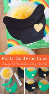 Pot of Gold St Patricks Day Snack Pin
