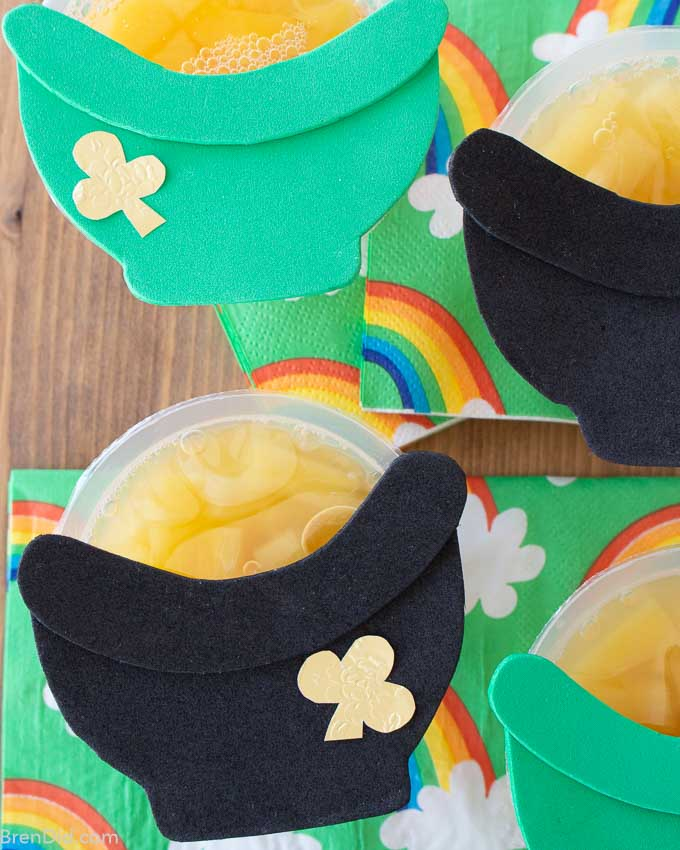 St Patrick's Day Fruit Cups