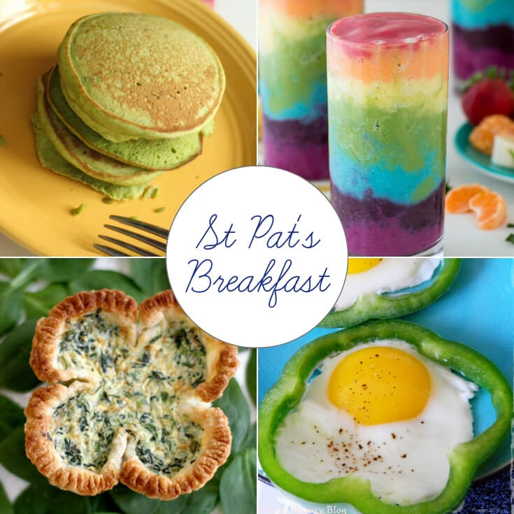 St Patrick's Day breakfast ideas collage