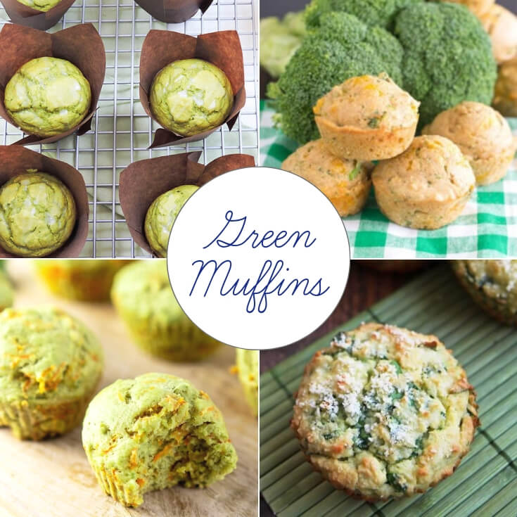 naturally green muffins St Patrick's Day treats collage