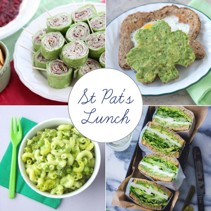 St Patrick's Day lunch ideas collage