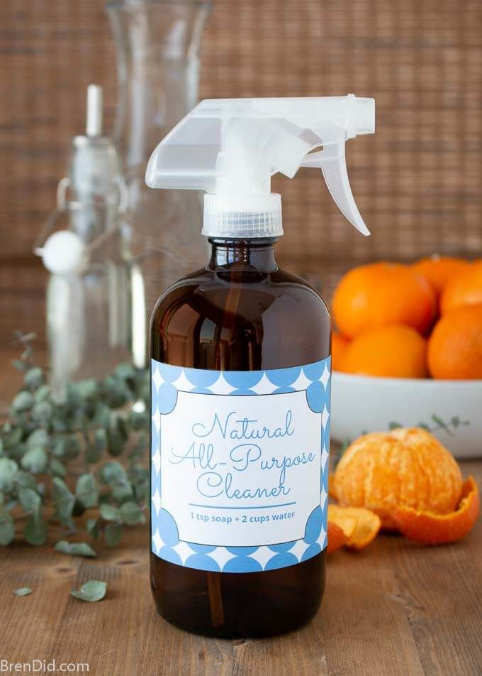all purpose cleaner with orange and eucalyptus