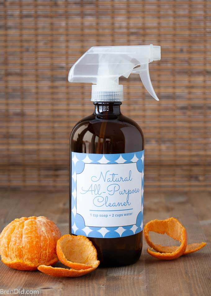 All purpose cleaner with free printable label