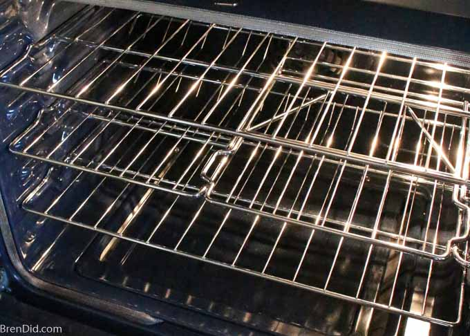 oven with clean racks